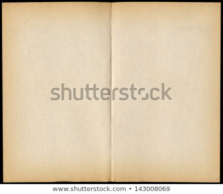 Two blank vintage paperback book pages isolated on black. Stock photo © latent