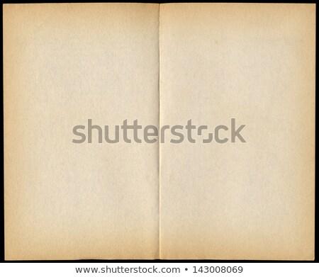 Kettő klasszikus könyv oldalak izolált fekete Stock fotó © latent