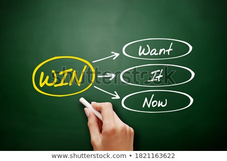 WIN - Want It Now Stock photo © ivelin