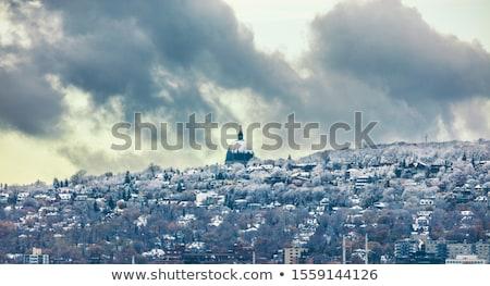 最初 超高層ビル モントリオール 詳細 クロック ストックフォト © aladin66