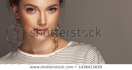 beautiful woman with jewellery Stock photo © chesterf