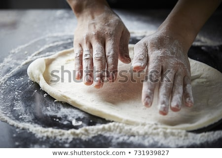 Pizza alimentos fondo queso petróleo pelota Foto stock © M-studio