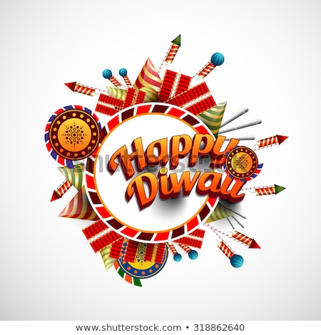 diwali festival crackers celebration colorful background vector stock photo © bharat