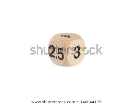 Strano dadi isolato bianco giocare gioco Foto d'archivio © michaklootwijk