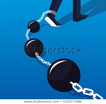 prisoner tied with iron ball stock photo © kirill_m