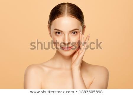 belle · visage · portrait · mode · yeux · cheveux - photo stock © dukibu