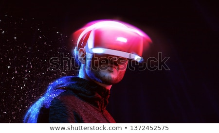 3d Red Blue Glasses and World Stock photo © cidepix