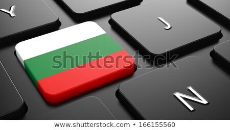 Bulgária bandeira botão preto teclado Foto stock © tashatuvango