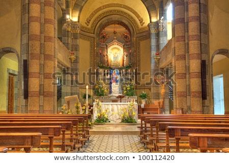 Katolikus templom belső kilátás Olaszország oltár Stock fotó © rglinsky77