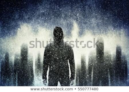 tehlikeli · gangsterler · bulutlar · adam · seksi · duman - stok fotoğraf © pressmaster