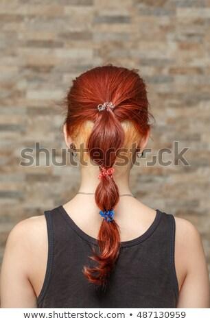 美しい · ブロンド · 女性 · 短い髪 · 成人 - ストックフォト © hasloo