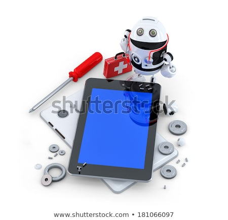 robot repairing tablet computer stock photo © kirill_m