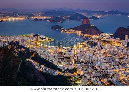 мнение Рио Cityscape воды город горные Сток-фото © epstock