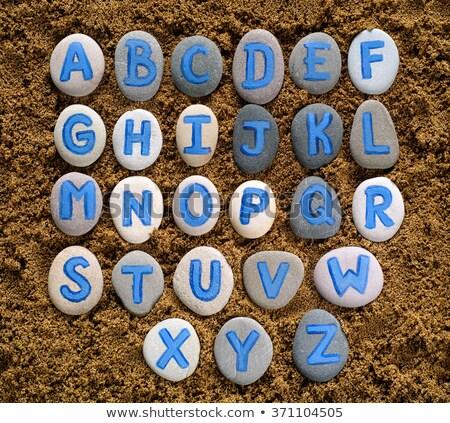 Levelek rajzolt homok rövidítés ppc rövid Stock fotó © bigandt