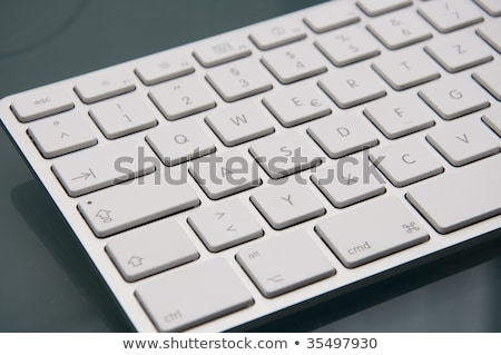Close up of white wireless keyboard  and wired mouse Stock photo © jenbray