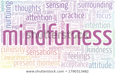 Stockfoto: Yoga · woord · collage · witte · zon · lichaam