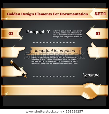 golden design elements for documentation set4 stock photo © voysla