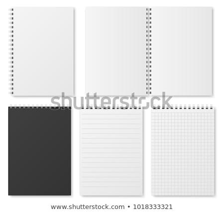 Nyitva szervező toll felső kilátás árnyék Stock fotó © romvo