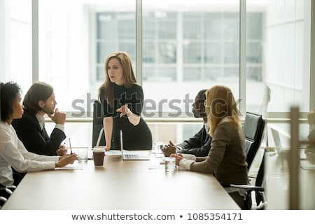 Young woman scolding Stock photo © bmonteny