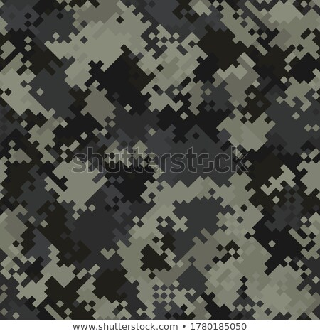 Camouflage military background in pixel style. Seamless pattern. Stock photo © gladiolus
