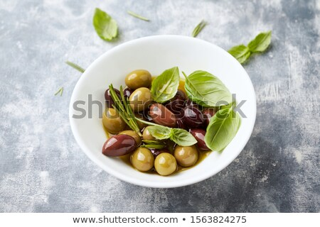 Fresh kalamata and green olives Stock photo © raphotos