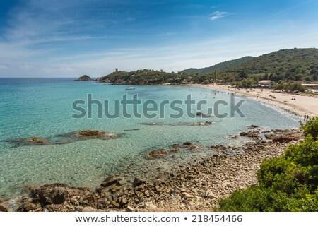 пляж побережье Корсика башни воды природы Сток-фото © Joningall