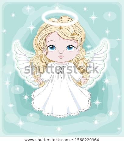 Bonitinho natal anjo desenho mulheres projeto Foto stock © lindwa