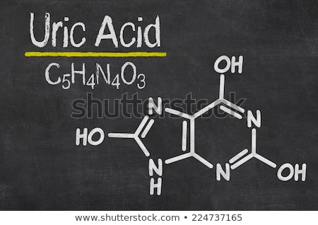Blackboard with the chemical formula of Uric Acid Stock photo © Zerbor