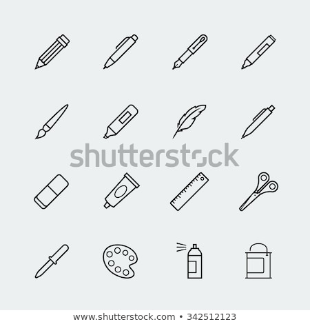 School drawing tools  icons set  Stock photo © wittaya