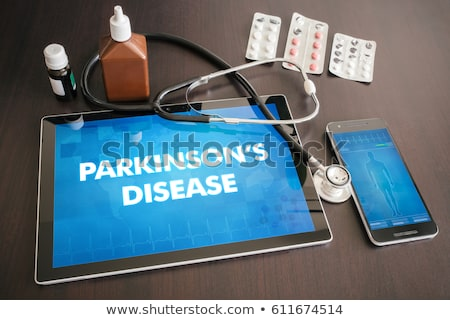 parkinsons diagnosis on the display of medical tablet stock photo © tashatuvango