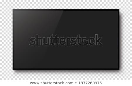 черный · ЖК · плазмы · телевизор · синий · экране - Сток-фото © vadimone