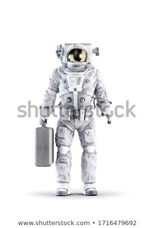 Heroïsch astronaut Rood eps10 bestand ruimte Stockfoto © 5xinc