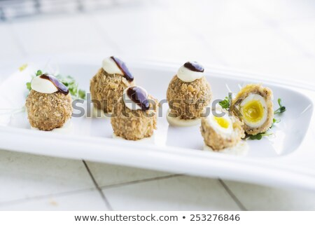 scotch breaded eggs  contemporary fusion style Stock photo © travelphotography