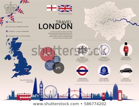 ロンドン · フラグ · シンボル · セット · 建物 · デザイン - ストックフォト © tele52
