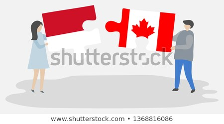 Indonesia and Canada Flags in puzzle Stock photo © Istanbul2009