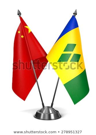 China miniatura bandeiras isolado branco Foto stock © tashatuvango