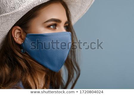 beautiful woman in blue Stock photo © lubavnel