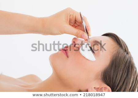 вид сбоку стороны белый женщину Сток-фото © wavebreak_media