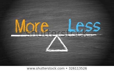less is more scale concept stock photo © ivelin