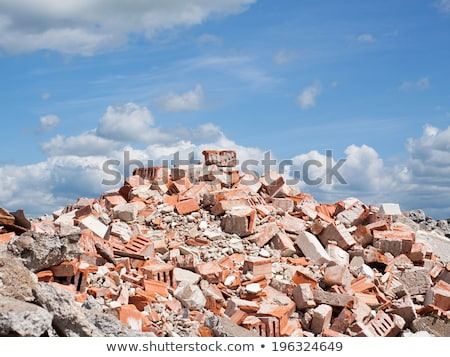 heap of brick and stone rubble on a demolition site      Stock photo © Melvin07