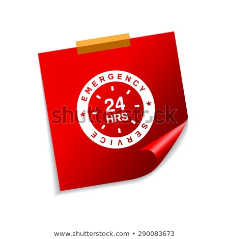 24 nood dienst Rood sticky notes vector Stockfoto © rizwanali3d