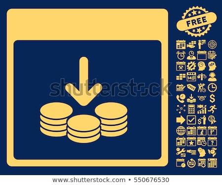 Bônus azul notas vetor ícone projeto Foto stock © rizwanali3d