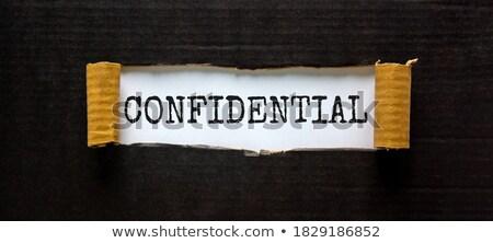 Corrispondenza parola cartella carta messa a fuoco selettiva comunicazione Foto d'archivio © tashatuvango