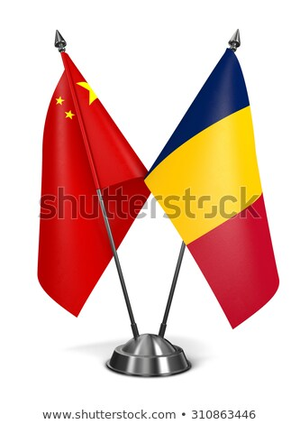China and Chad - Miniature Flags. Stock photo © tashatuvango