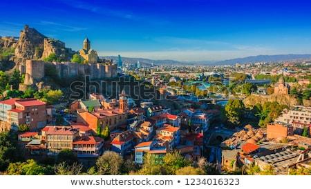 manastır · Georgia · görmek · Bina · dağ · tarih - stok fotoğraf © master1305