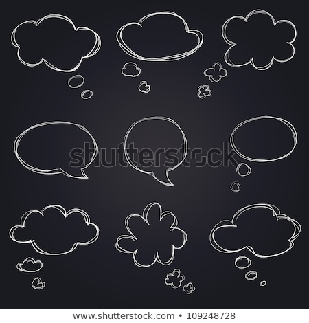 empty tag icon drawn in chalk stock photo © rastudio