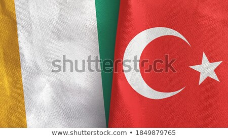 Turkey and Cote Divoire Flags Stock photo © Istanbul2009