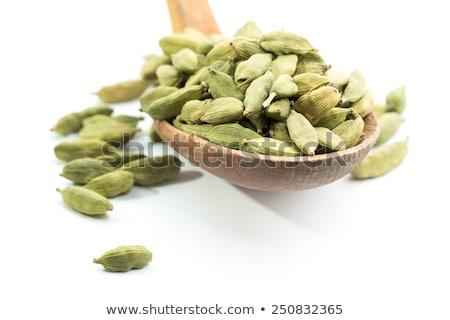 зеленый · кардамон · Spice · изолированный · белый · лице - Сток-фото © ziprashantzi