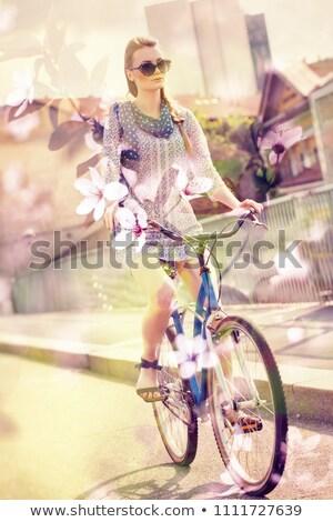 urban biking lifestyle multiple exposure stock photo © stevanovicigor
