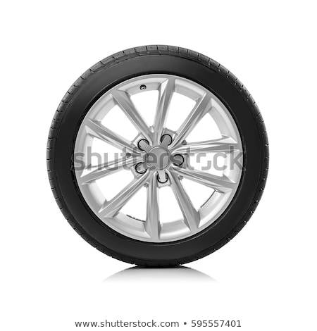 Car wheel isolated on white. tire Stock photo © RuslanOmega